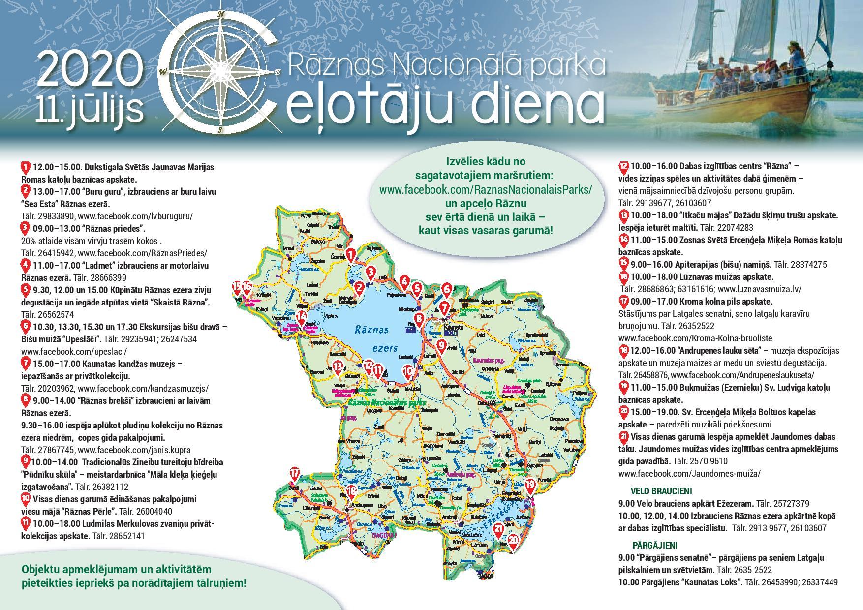 Ceļotāju diena Rāznas Nacionālajā parkā (11. jūlijs), Latgales tūrisma mājaslapa
